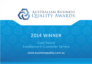 Australian Business Quality Award Certificate